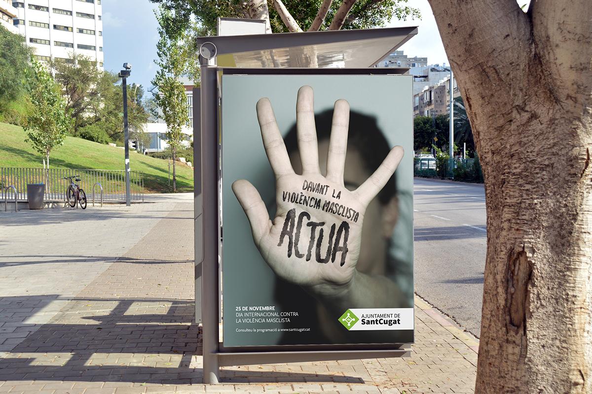 Ajuntament de Sant Cugat. Campaña contra la violencia machista.